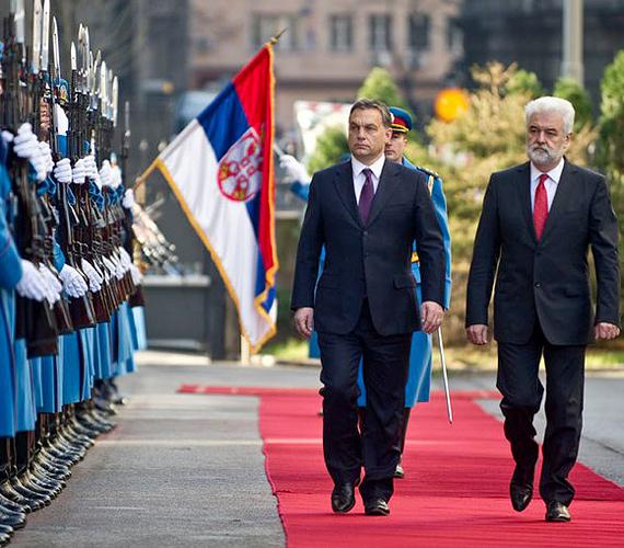 Belgrád, Szerbia: Orbán Viktor 2010. november 26-án látogatott a szerb fővárosba.