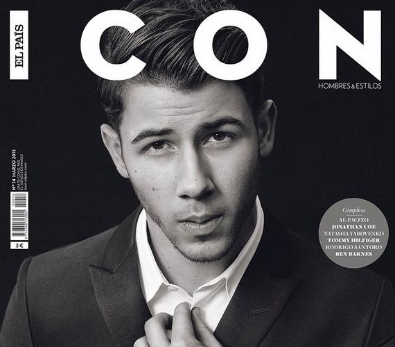 A címlapfotón látszik csak igazán, milyen sokat változott Nick a Jonas Brothers indulása óta.