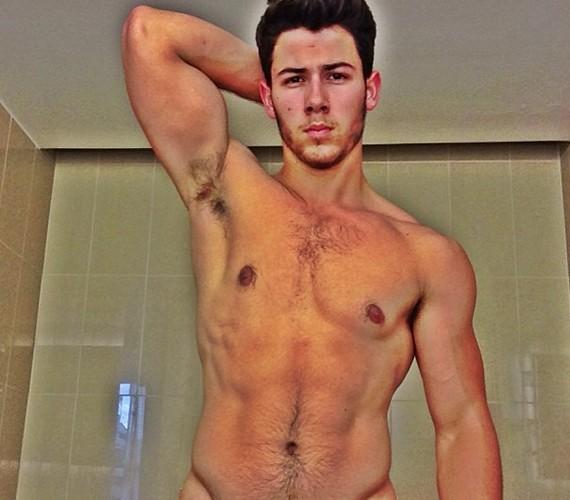 Ezt a fotót töltötte fel magáról az internetre Nick Jonas. A túlszerkesztett kép kissé gyanús: olyan, mintha Photoshop-kreálmány lenne, és az énekes feje alatt nem a saját testét láthatnád.