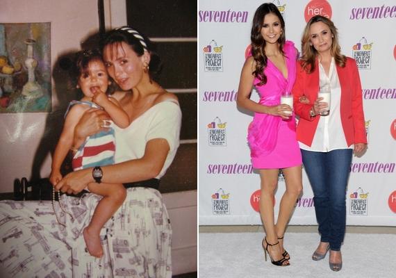 Nina mai arca szembetűnően hasonlít édesanyja fiatalkori külsejéhez.