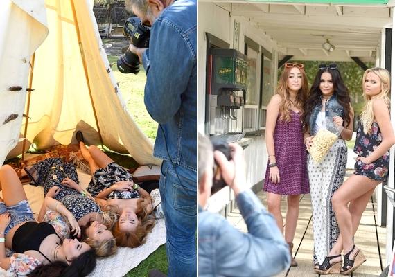 A fotózásról a kulisszák mögött is készültek képek, a lányok élvezték a munkát.