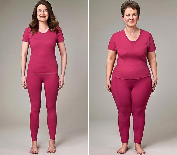 Lucinda Sharpe és Nicola Gaughan példája szemlélteti legjobban a különbséget. Lucinda 177 centi magas, és 38-40-es ruhát hord, Nicola pedig 157 centi, és felül 40-42-es, alul 44-es a mérete.