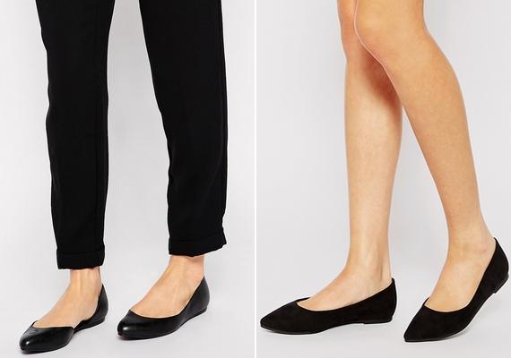 Egy teljesen egyszerű, fekete balerinacipő farmerhez és szoknyához is felvehető, csinos leszel benne akkor is, ha nem akarsz magassarkúban menni.
