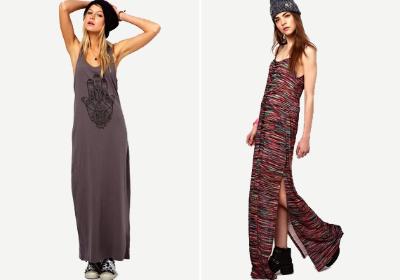 A maxiruha idén igazán divatos, és vannak belőle gyönyörű darabok, de kifoghatsz olyat is, ami nem előnyös. Az egyenes, nőietlen szabás öregít, és tönkreteszi az alakot.
