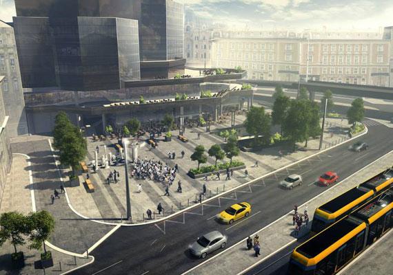A tervek alapján sokkal több zöld lesz a mostani állapotnál, így egy árnyas és barátságos tér jöhet létre.