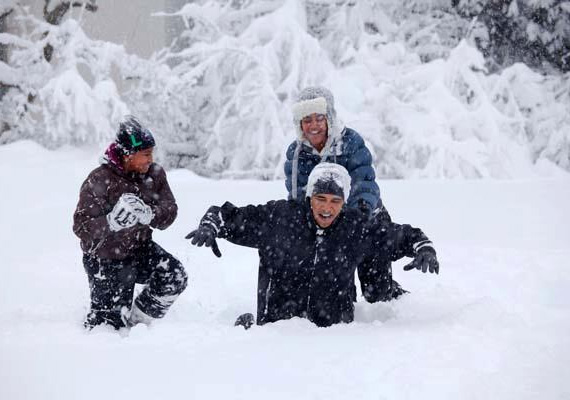 Az Obama család Aspenben.