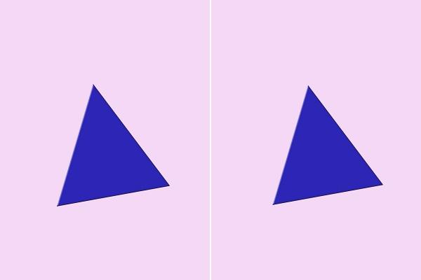 Melyik háromszög a nagyobb? Ha jól válaszoltál, van egy rossz hírünk