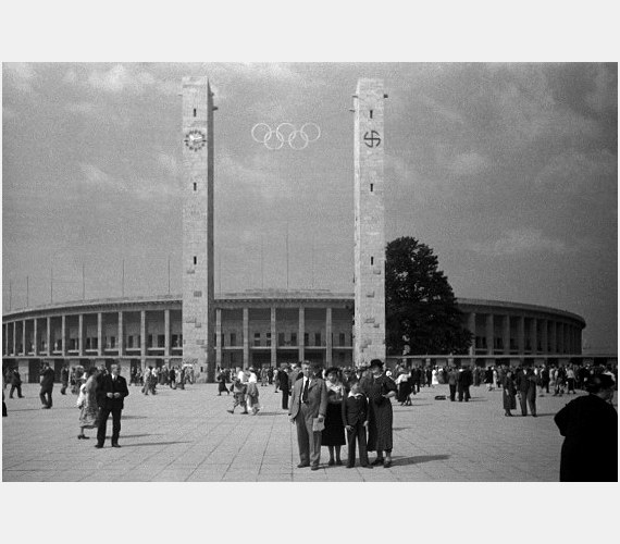 A berlini olimpiai stadion 1936-ban.