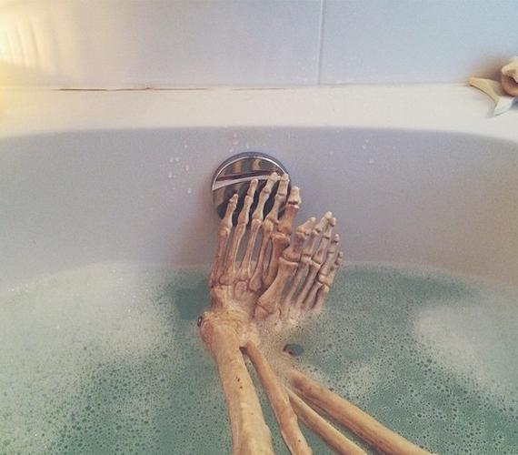 A kinti hideg után jólesik egy forró fürdő.