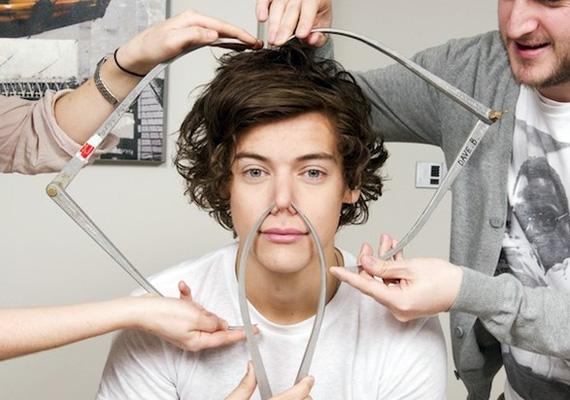 Harry Styles nem úgy néz ki, mint aki túlságosan élvezte a vizsgálódást.