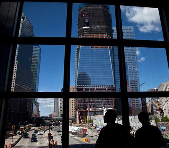 A még építési munka alatt álló One World Trade Center.
