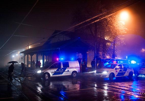 A Normafához már tegnap este képtelenség volt eljutni. A rendőrök a buszok, az autósok, de még a fogaskerekű elől is lezárta a magaslati pontokra vezető utakat.