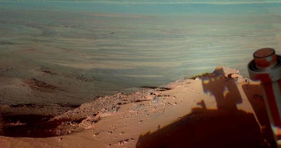 2012 tavaszán csodás marsi kilátás tárult a rover elé a Endeavour-kráter pereméről, amit le is fotózott.