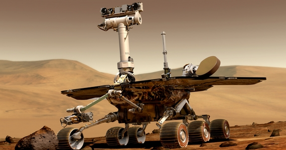 Íme, az Opportunity, a második amerikai marsautó.