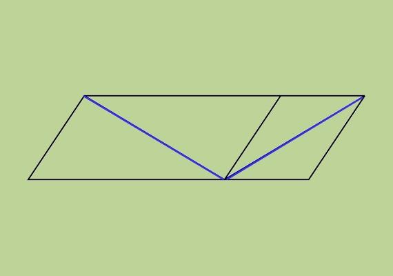 Melyik kék vonal a hosszabb? Hiszed vagy nem, ugyanakkorák, mérd csak le!