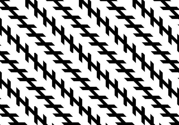 A kis vonalak helyzete miatt úgy tűnik, a hosszú vonalak is dülöngélnek, pedig valójában teljesen párhuzamosak.
