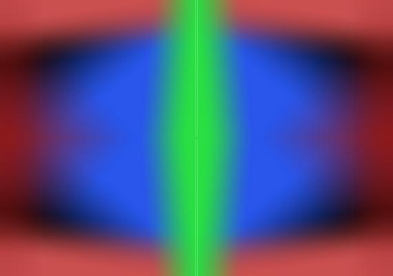 Lassan távolodj el a monitortól, majd hajolj közelebb! A kék terület összeszűkül, majd újra megnő.