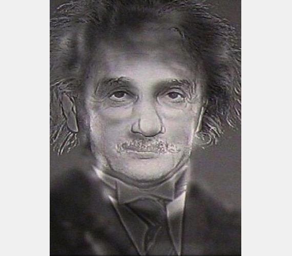 Egy elmosódott fotó Albert Einsteinről. Biztos? Lépj hátra néhány lépést a monitortól, és nézd meg újra - most már Harry Pottert látod.