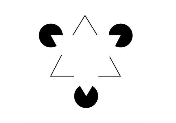 A fehér háromszög csak optikai illúzió.