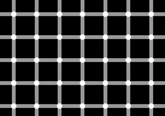 Te is látod az ugráló fekete pontokat? Pedig nincsenek ott.