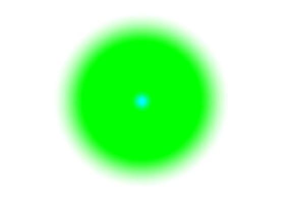 Nézd erősen a kék pontot, és a körvonalak elmosódnak.