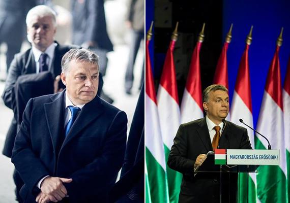 A bal oldali kép 2015 novemberében készült, amikor a kormányfő Kínába látogatott, míg a jobb még a tavalyi év februárjában, az évértékelő beszédén. Mintha egyre jobban őszülne.
