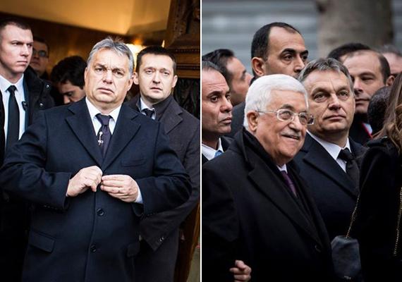 """A novemberi párizsi terrortámadások nemcsak a franciákat, hanem az egész világot megrázták, a bal oldali képen Orbán Viktor a nemzeti gyásznapon.Ráadásul nem ez volt az egyetlen terroresemény a francia fővárosban, ugyanis 2015 elején a Charlie Hebdo című szatirikus hetilap székházát támadták meg. A kormányfő azt írta akkor albumához: """"Európának egyedül is meg kell védenie magát."""""""