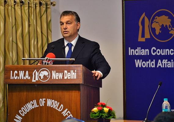 A miniszterelnök Magyarország és Európa egy változó világban címmel előadást tart az indiai külpolitikai intézetben.