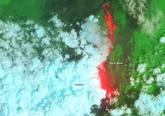 A Nyamaragira-vulkán kitörése.