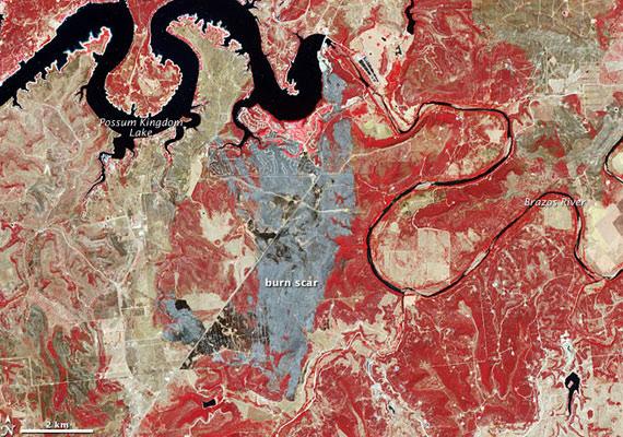 A 2011 szeptemberében Texasban pusztító tűzvészt mintha a Possum Kingdom-tó sárkánya indította volna el.