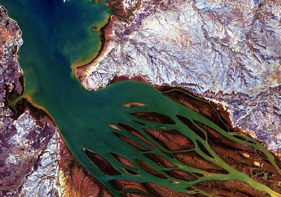 Az ALOS-műhold képein a Bombetoka-öbölbe torkolló madagaszkári folyó úgy fest, mint egy óriási medúza.