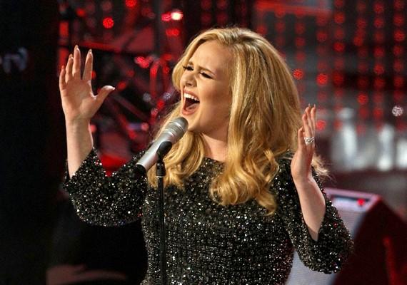 Adele élőben is előadta a díjnyertes dalt, a Skyfallt. Az énekesnő a könnyeivel küszködött, miután átvette a szobrocskát.