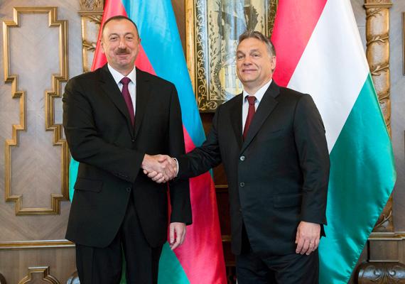 Az azeri elnök Budapestre látogatott, hogy Orbán Viktorral a két ország közötti üzleti együttműködésekről tárgyaljon. Többek között szó esett a déli gázfolyosó kiépítéséről, valamint az Ázsiát Európával összekötő vasútvonal kiépítésről is, aminek már 2015-ben nekikezdenének.