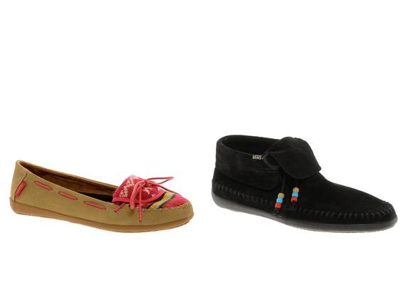 Egyre inkább divatba jönnek a mokaszinszerű, rojtos félcipők.