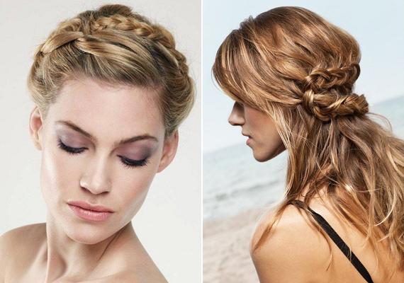 Ne egyszerűen tűzd fel a hajad, hanem próbálj meg szó szerint egy kis csavart belevinni: egy-egy tincset fonj be, és bolondítsd meg azzal a frizurádat.