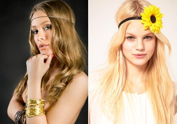 A haj- és fejpántok, illetve a különböző hajdíszek most slágerdarabok, legalább egy a te kiegészítőkollekciódból sem hiányozhat. Akárcsak egy modern kori hippi.