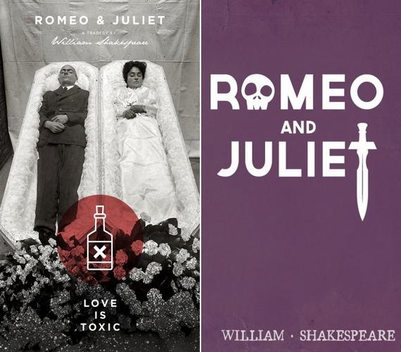 A Rómeó és Júlia tragikus történetéhez jobban illenek a mellbevágó borítók.