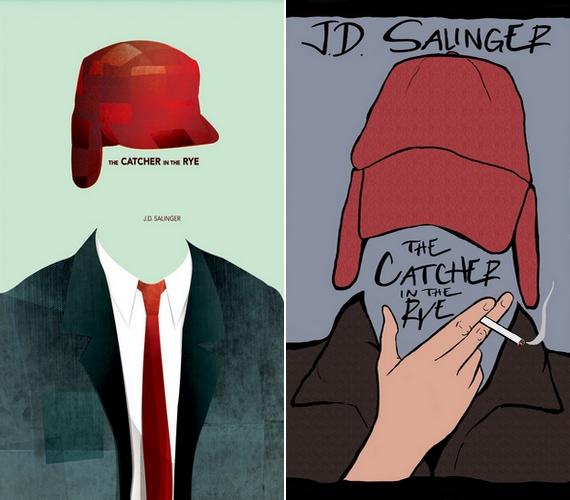J. D. Sallinger Zabhegyezőjéből az ikonikus piros szarvasölő sapka több alternatív borítón is megjelent.