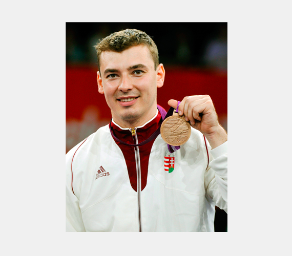 Osváth Richárd bronzérmes tőrvívásban.
