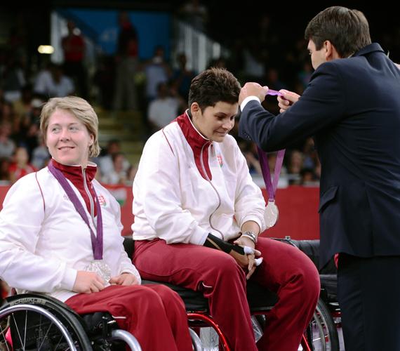 Juhász Vera, az ezüstérmes csapat harmadik, egyben utolsó tagja.
