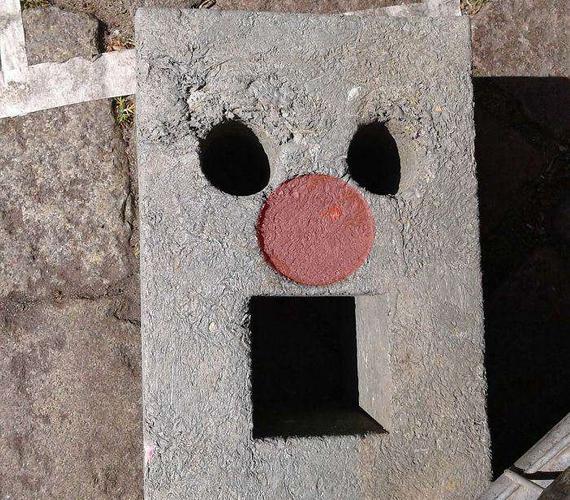 Ijedt betonlap.
