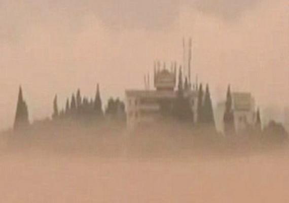 Nem ez az első ilyen eset Kínában: 2011-ben egy még részletesebb városképet fotóztak le a felhők felett.
