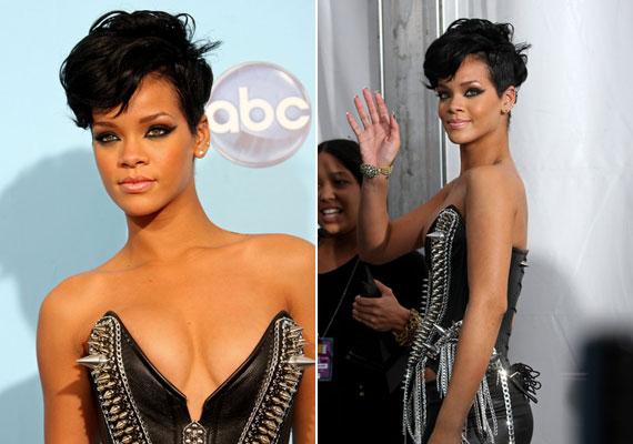 Rihanna füstös szemei attól lesznek még izgalmasabbak, hogy az alsó és a felső kontúrvonal hosszan kihúzva találkozik.