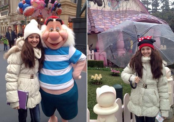 A tokiói Disneylandbe is ellátogatott.