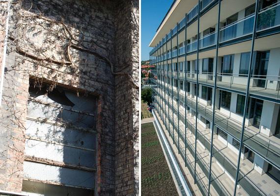 A budapesti Szent Imre Kórház egyik épületének ablaka és a pécsi klinika ablakai. Kitalálod, melyik-melyik?