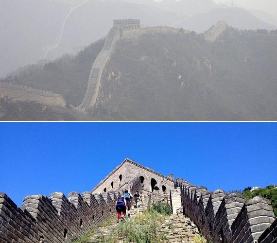 Még a Kínai Nagyfal környéke is egészen máshogy festett, mint általában.