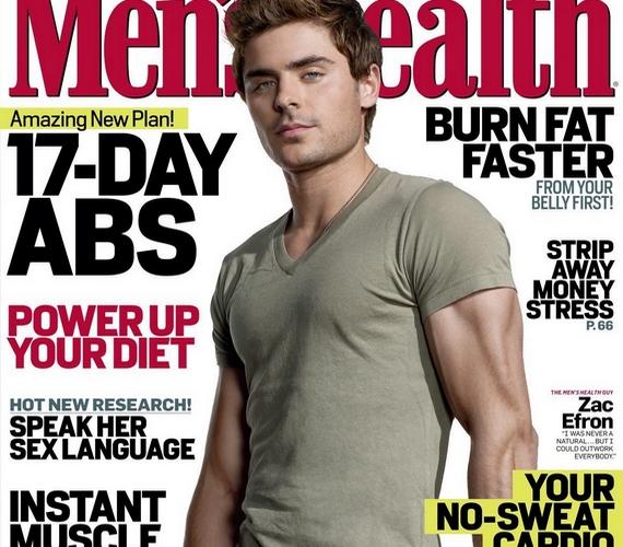 Bár a férfiak egészségéről szól a lap, ha Zac Efron karja valóban így nézne ki, azt jobb lenne orvosnak is megmutatni.