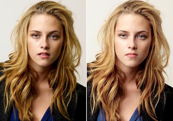 Kifejezetten természetellenessé tették a 23 éves Kristen Stewartról készült fotót.