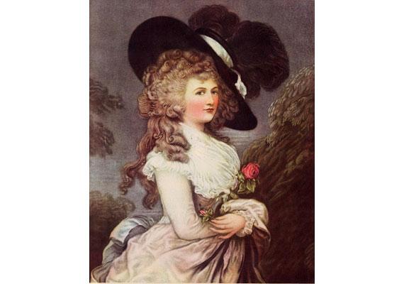 Devonshire hercegnőjének portréját 1876-ban lopta el egy Adam Worth nevű szélhámos, aki a Sherlock Holmes-történetek egyik gaztevőjének, Moriartynak az ihletője is volt. Worth úgy jutott be a londoni galériába, hogy 213 centiméter magas bűntársa vállára állva bemászott az ablakon.