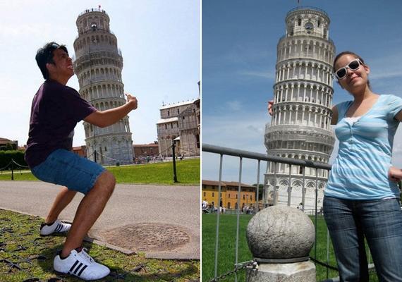 Persze azért egészen ötletes képek is készülnek a toronynál.